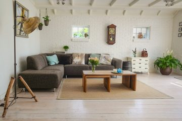 Modern lounge with minimalist furniture