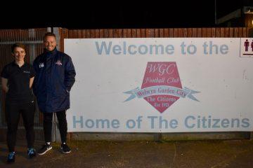 Rhiannon and Dean at Welwyn Garden City FC