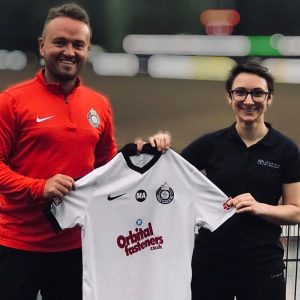 rhiannon jenkins sports massage and dean barker at kings langley fc