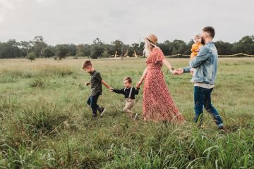 family enjoying things to do in countryside